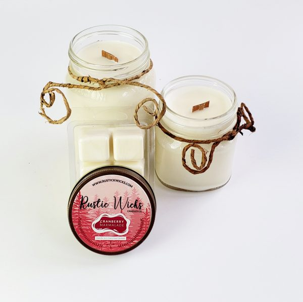 Cranberry Candle | Cranberry Marmalade Candle By Rustic Wicks