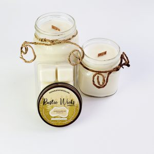 Sandalwood Candle by Rustic Wick Candle Co.