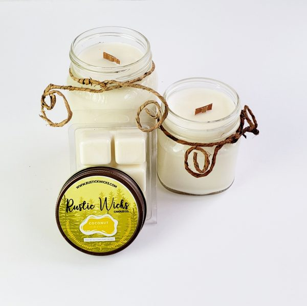 Coconut Candle| Rustic Wick Candle Co.