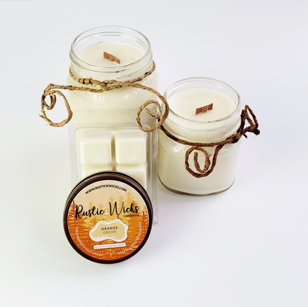Orange Candle by Rustic Wicks Candle Co.